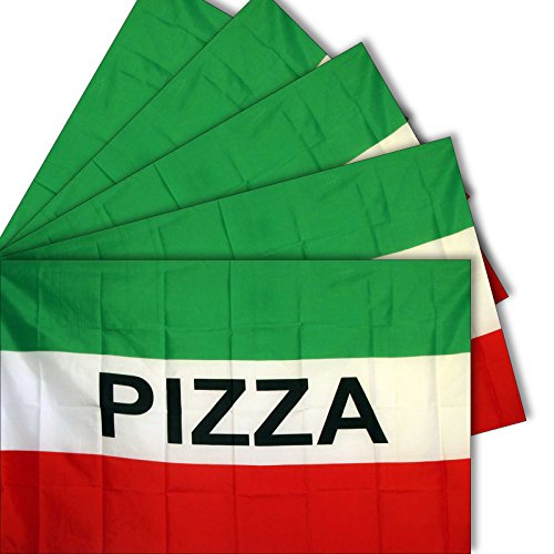 """5-pack of NEOPlex """"PIZZA"""" 3' x 5' Flag"""