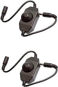 2pcs DC12V-24V Mini Dimmer LED brightness Dimmer Controller for 3528 5050 5630 Single Color LED Strip fita led Light Balck Zoyce