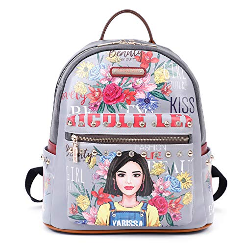 Women's Spacious Colorful Print Fashion Backpack, Adjustable Shoulder Pads (Soy Yarissa) (Laptop Backpack Nicole Lee)