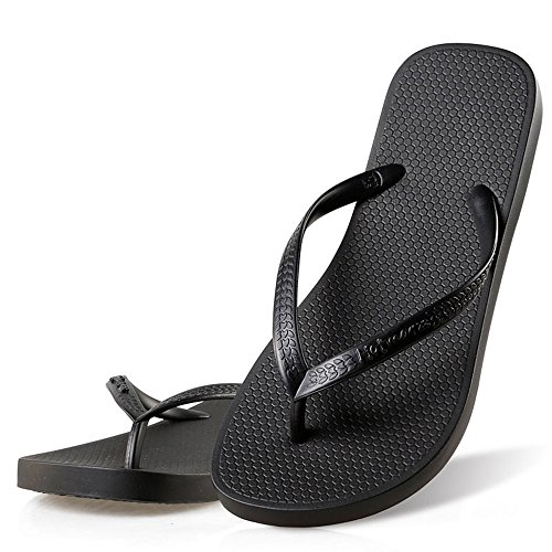 Hotmarzz Women's Slim Flip Flop Summer Flat Slippers Beach Thong Sandals Size 5 B(M) US / 36 EU / 37 CN, - Girls Flop Flip Black