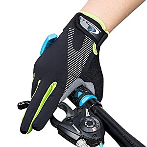 Cycling Gloves, Sport Fitness Gloves, WITERY Thin Unisex Touchscreen Outdoor Adjustable Bike Gloves Full Finger Riding Gloves