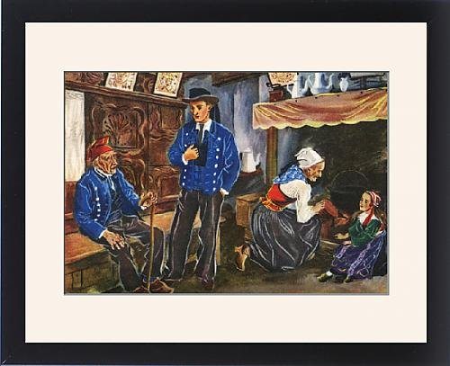 Framed Print of Plougastel-Daoulas, Finistere, Brittany