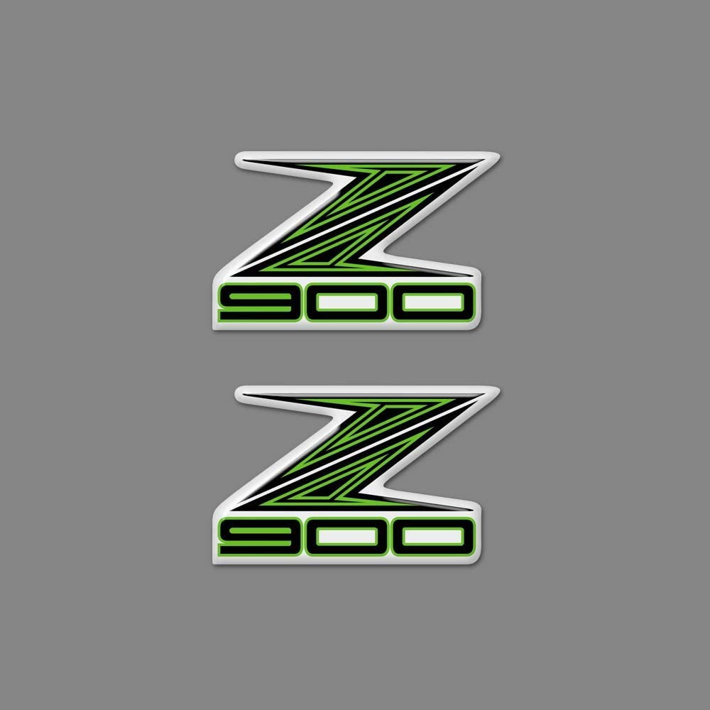 RONGLINGXING Powersports Parts Z H2 Motorcycle Decal Stickers Shape 3D Tank Pad Emblem Z For Kawasaki Z125 Z250 Z300 Z400 Z650 Z750 Z800 Z900 Z1000 ABS Logo Color : Tank pad