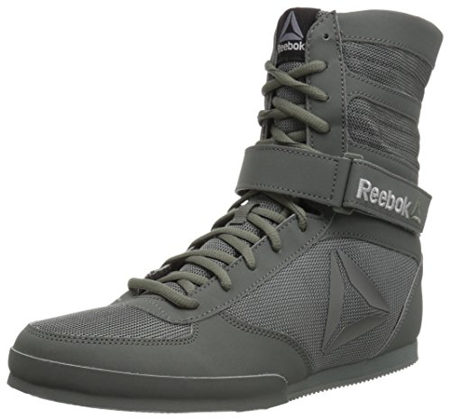 Reebok Men's Boot-Buck Boxing Shoe, Buck-Ironstone/Black, 10 M US