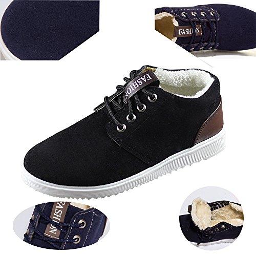 Montantes BOZEVON Lacets Bottes Sport Randonnée d'hiver Homme Imperméable Mode Botte Chaud Boots Chaussures Noir Marron Casual 1q4w7xr1
