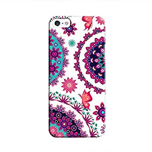 Cover It Up - Flower Design White iPhone SE Hard Case