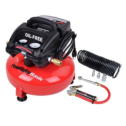 09. PowRyte Basic 3 Gallon Oil-Free Pancake Portable Air Compressor Review