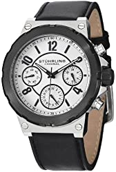 Stuhrling Original Men's 701.01 Leisure Gen X Sirocco Quartz Day and Date Black Watch