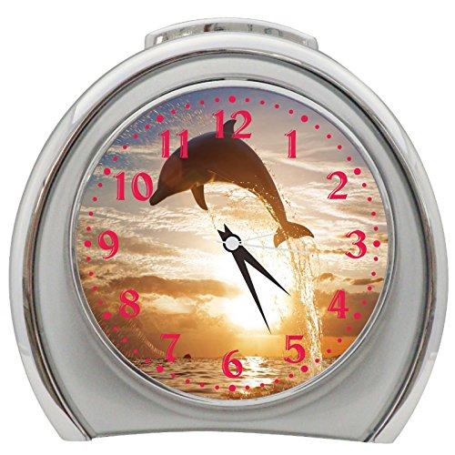 Dolphin Table Desk Alarm Clock Night Light h0138 - Dolphin Alarm Clock