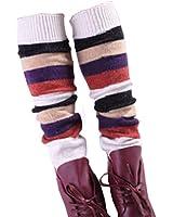 Women Lady Fashion Leg Warmers Knit legging,stripe,colorful