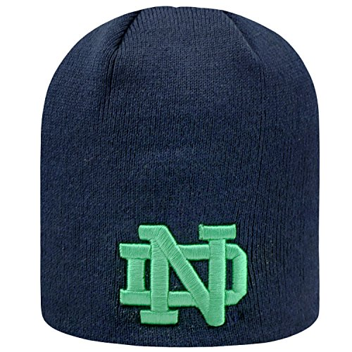 (Notre Dame Fighting Irish Official NCAA Uncuffed Knit Classic Beanie Stocking Stretch Sock Hat Cap by Top of the World 983523)