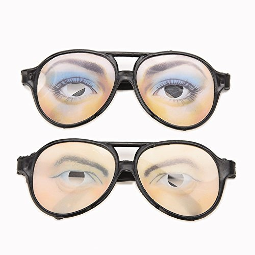 Glasses Mask Halloween Costume Party April Fool's Day Made Of Plastic Material With Black Frame (Fool Costume)