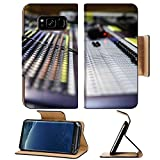 Liili Premium Samsung Galaxy S8 Flip Pu Leather Wallet Case Zoomed view on sound mixer with regulation buttons Photo 18931388 Simple Snap Carrying