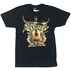 Willie Nelson Guitar Trigger Born For Trouble Black T Shirt (XL)