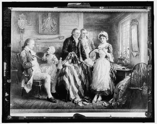 Photo: Making American Flag,Betsy Ross Griscom,Jean Louis Gerome - Ar 40-61