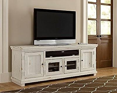 """Progressive Furniture Willow 74"""" Console, Distressed White"""