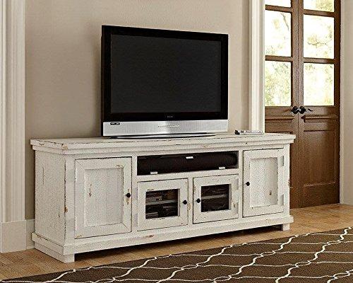 """Willow Console, 74"""", Distressed White - Progressive Furniture P610E-74"""