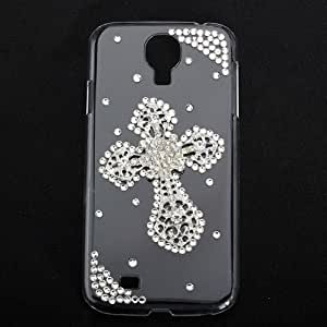 Luxury Diamond Metal Flower Back Case For Samsung Galaxy S4 i9500