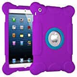 HHI iPad mini Kids Fun Play Armor Protective Case – Purple (Package include a HandHelditems Sketch Stylus Pen), Best Gadgets