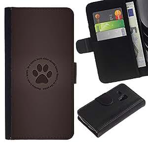 JackGot ( Huella )Samsung Galaxy S3 MINI i8190 (NOT S3) la tarjeta de Crédito Slots PU Funda de cuero Monedero caso cubierta de piel