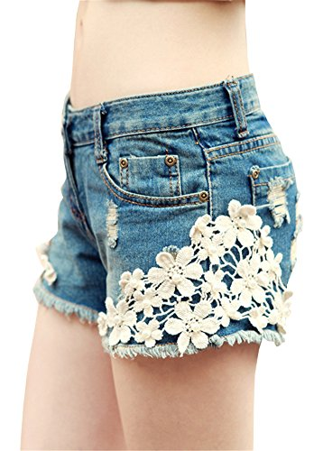 AnVei Nao Womens Tassel Floral Shorts