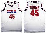 USA Jersey #45 Donald Trump Jersey Trump USA Jersey (X-Large)
