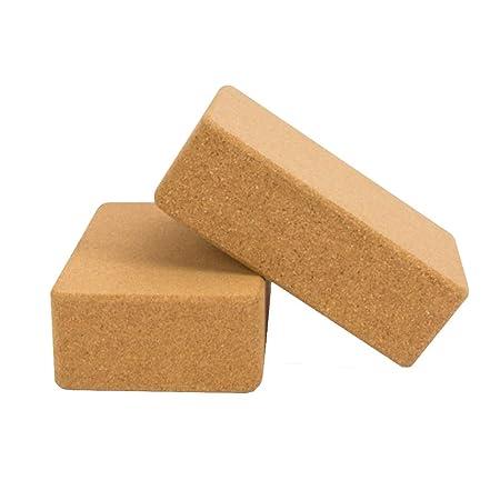 LB Cork Yoga Block Set De 2 Ladrillos De Pilates Cojín ...