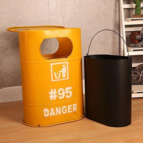 Creative industry oil barrel trash can home living room bar