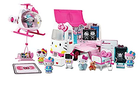 1b4110a9f9ce Amazon.com  Jada Hello Kitty Rescue Set with Emergency Helicopter ...