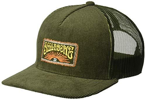 (Billabong Men's Flatwall Trucker Hat Dark Military One Size)