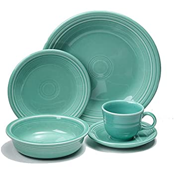 Fiesta Dinnerware 20 Piece Dining Set - Turquoise Blue - 855107  sc 1 st  Amazon.com & Amazon.com | Fiesta Dinnerware 20 Piece Dining Set - Turquoise Blue ...