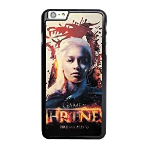 Custom made Case,Game of Thrones PC Plastic Cell Phone Case for iPhone 6 6S plus 5.5 inch,Black Case With Screen Protector (Tempered Glass) Free S-6632882