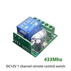 Dasiter DC12V 1Channel 433Mhz Wireless R...