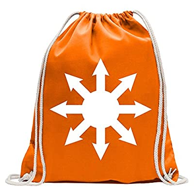 2cd21afcb55e chaos magic Fun backpack sports bag fitness Gymbag shopping cotton with  drawstring durable service
