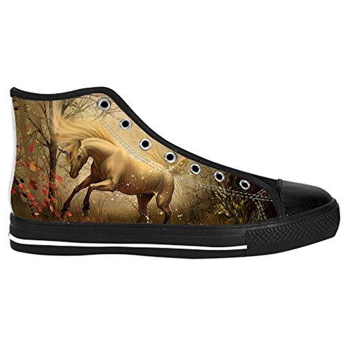 Dalliy W¨¹tend Pferd Tier Mens Canvas shoes Schuhe Lace-up High-top Sneakers Segeltuchschuhe Leinwand-Schuh-Turnschuhe A