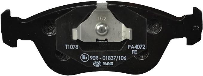 Hella Pagid 8db 355 007 721 Bremsbelagsatz Scheibenbremse Vorderachse Auto