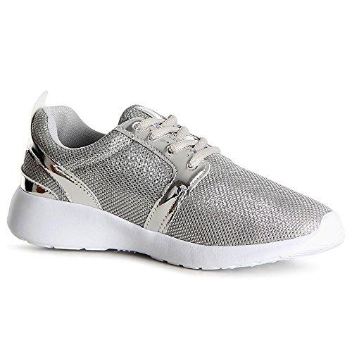Sport Topschuhe24 Sneaker Chaussures Femmes De Argent qf1ftwr