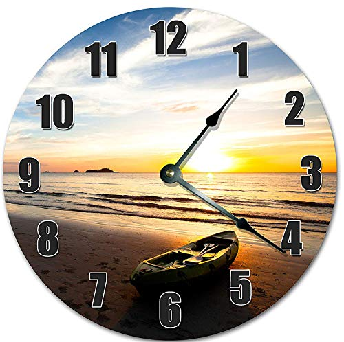 Composite Sea Kayaks - Fancy This SEA Kayak in The Sunset 10.5 inch Wall Clock