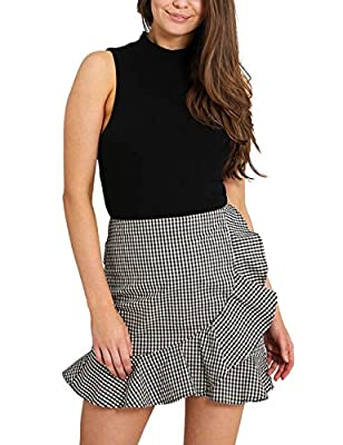 Just Quella Women Lattice MiNi Casual Short Skirt 1161