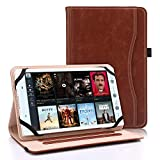 "Bluezoon Universal Folio Case for 7 – 8 Inch Tablet- Slim Stand PU Leather Cover for 7"" 8""..."