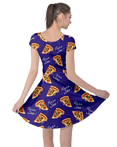 Dress Sweet Coffee XS Short Pizza Cupcakes Sleeve Donut Snacks Navy CowCow Dessert 5XL Food Womens Icecream PwfcE4qF7