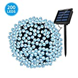 Ankway Solar String Lights, 200 LED 8 Modes 72ft/22m Solar Powered Waterproof Fairy Lights Outdoor Decorative Lighting for Garden, Christmas,Tree, Patio,Fence, Wedding, Party(Cool White)