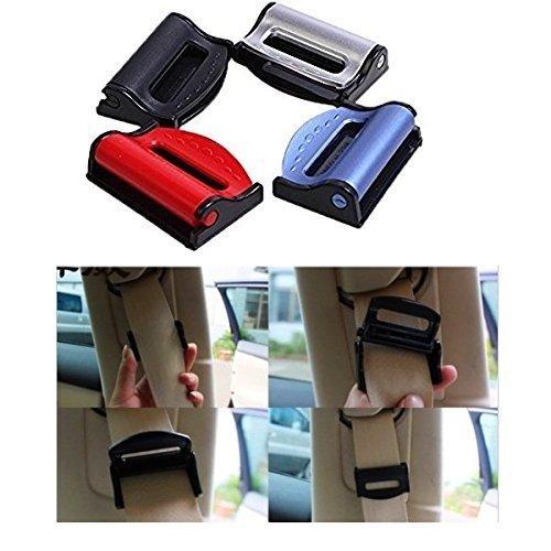 EQLEF® 4 pcs Universal Fit Car Seatbelt Adjuster Clip Belt Strap Clamp Shoulder Neck Comfort Adjustment Child Safety Stopper Buckle Random Color EQLEF®