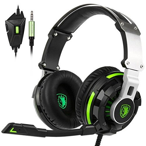 Price comparison product image SADES SA933 7.1 Virtual Sound 3.5mm Jack Stereo Gaming Headset Over the Ear Headphone with Microphone for PC New Xbox One PS4 Laptop