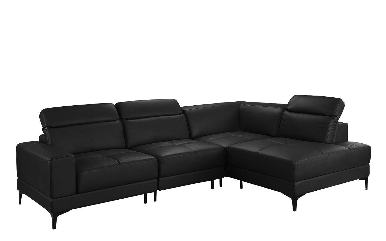 Amazoncom Large Modern Leather Sectional Sofa Living Room L Shape