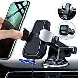 Andobil Automatic Clamping Wireless Car Charger Mount with QC3.0 Adapter, Qi 10W Fast Charging Air Vent Dashboard Phone Holder for iPhone 11 Pro Max/XS/XR 8 Plus, Samsung Galaxy S10 S9 S8 Note 10/9