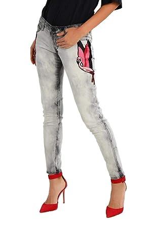Amazon.com: GUESS $108 Mujeres Nuevo 1337 Rosa Parche Pata ...