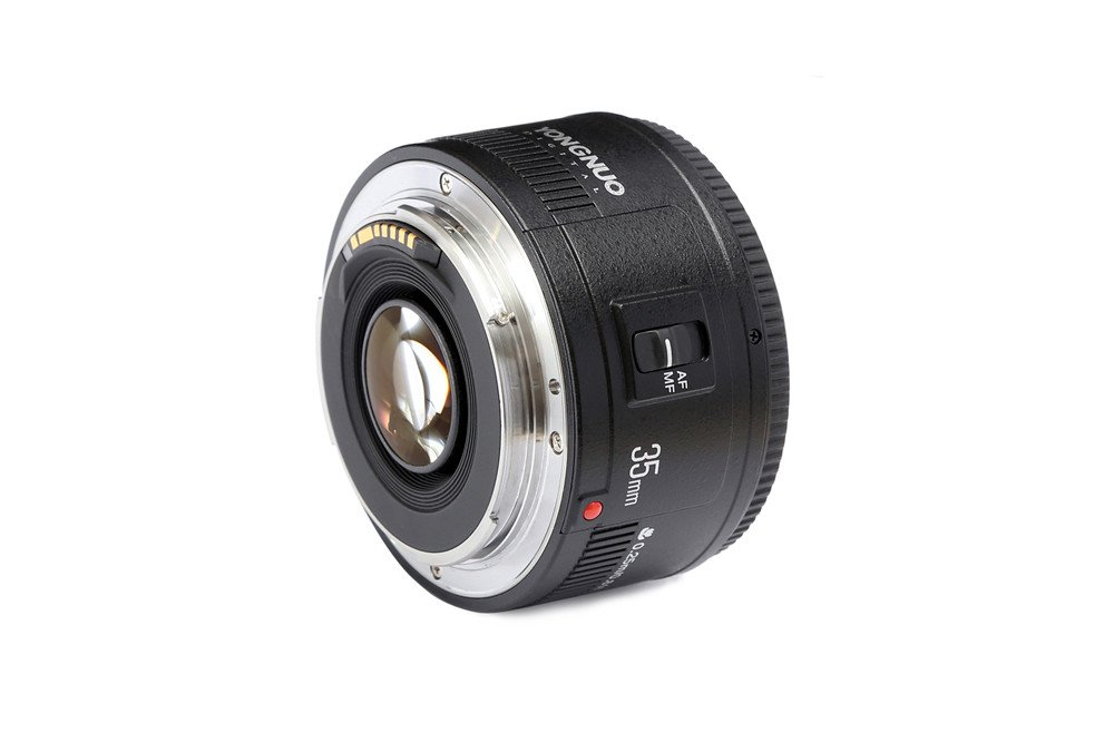 YONGNUO YN35mm F2 Lens 1:2 AF/MF Wide-Angle Fixed/Prime Auto Focus Lens for Canon EF Mount EOS Camera by Yongnuo