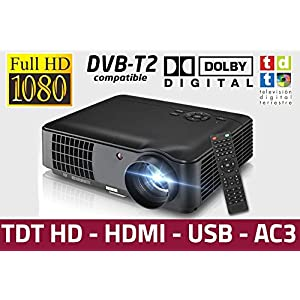 Proyector Unicview HD200, Video Proyector 1080P Full HD, con TDT ...