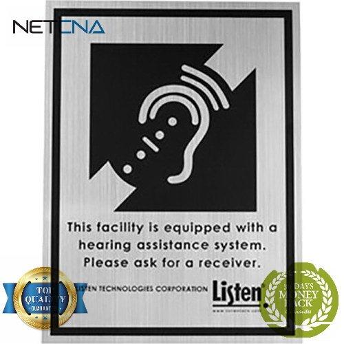 LA-304 Assistive Listening Notification Signage Kit - Free NETCNA Touch Screen Pen - By NETCNA Signage Kit